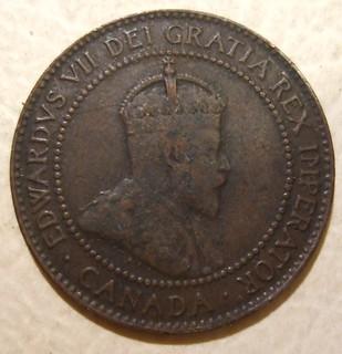 CANADA, EDWARD VII 1909 ---ONE CENT b