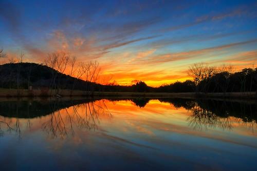 travel blue sunset sky orange lake color reflection beautiful clouds austin temple pond nikon scenery dusk gorgeous awesome pantheon scenic hills stunning gods hindu hdr highdynamicrange ashram photomatix tonemapped tonemap d40x goldstaraward nomadicpursuits