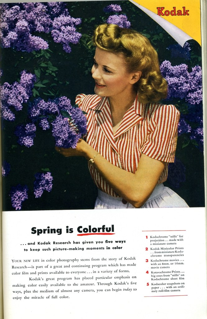 Kodak color 1946 | Spring is Colorful    and Kodak Research … | Flickr