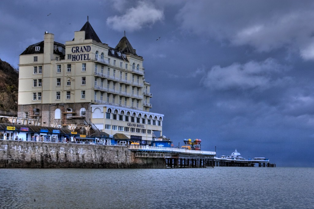 Grand Hotel Llandudno Wales Took This At The Weekend After Flickr