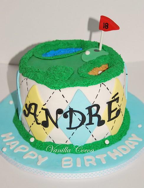 Peachy Golf Birthday Cake I L O V E How The Argyle Design Come Ou Flickr Funny Birthday Cards Online Eattedamsfinfo