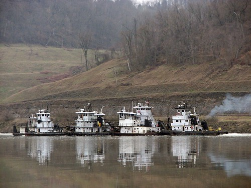 ghostfleet towboats ohioriver ohiovalley river pikeisland ohiocounty water boat vehicle reflection landscape day flickr flickriver flickraddicts flickrclickx white spring