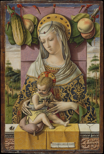 Carlo Crivelli: Madonna and Child [with goldfinch] (1480)