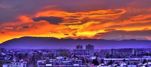 sunset orange beautiful nikon experimental slovenia 1855 hdr celje d40
