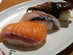 Nigiri Sushi de Salm�n, Caballa y Anguila