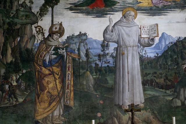 Rom, Santa Maria in Aracoeli, Cappella Bufalini, Fresken von Pinturicchio über das Leben des hl. Bernhardin von Siena (frescoes by Pinturicchio about the life of St. Bernardine of Siena)