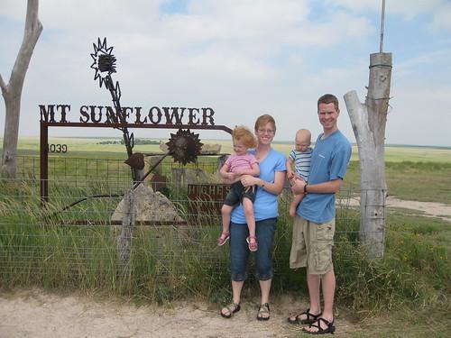 Heather, Hannah, Jonathan and I on the summit of Mount Sunflower.