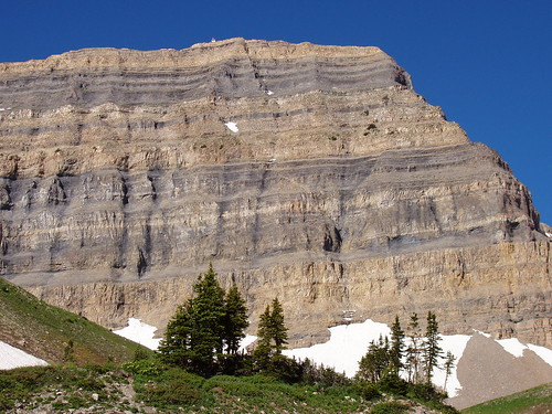 The east side of the Mount Timpanogos summit; the white speck on the top is the summit shack.