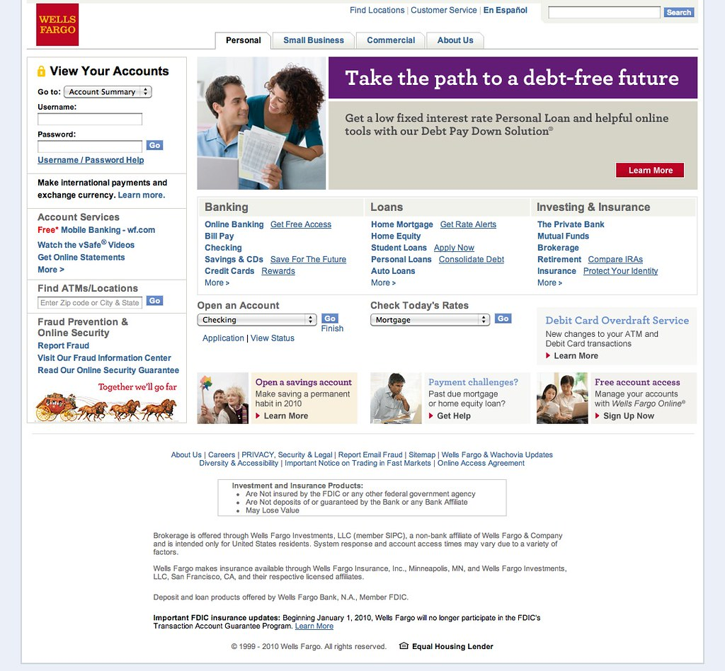 Wells Fargo Home Page | www wellsfargo com/ | Chris Messina