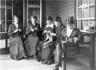 """""""'A souvenir of today at Cudgewa 25.10.16.' It looks something like a Red Cross meeting, but it's just the normal state of patriotic girls during the Great War."""" - Cudgewa, Victoria, 25 October 1916 / photographer unknown"""