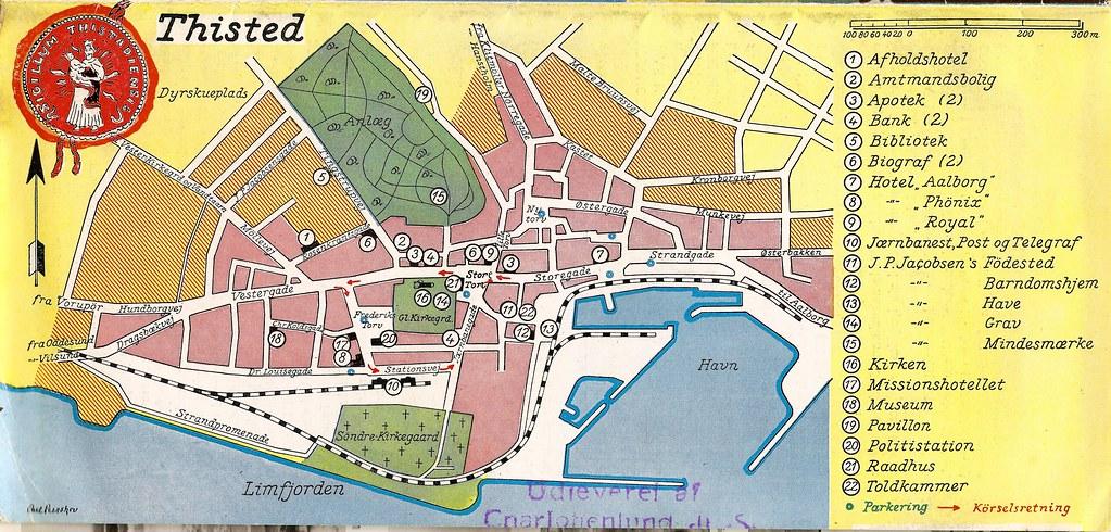 Map Of Thisted Denmark 1939 Kort Over Thisted Danmark Flickr