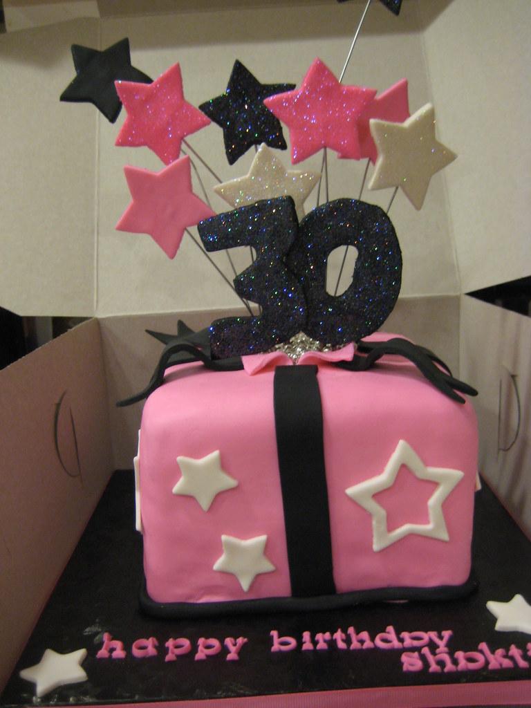 Prime 30Th Birthday Cake Shooting Stars 6 Red Velvet Cake Dec Flickr Funny Birthday Cards Online Necthendildamsfinfo