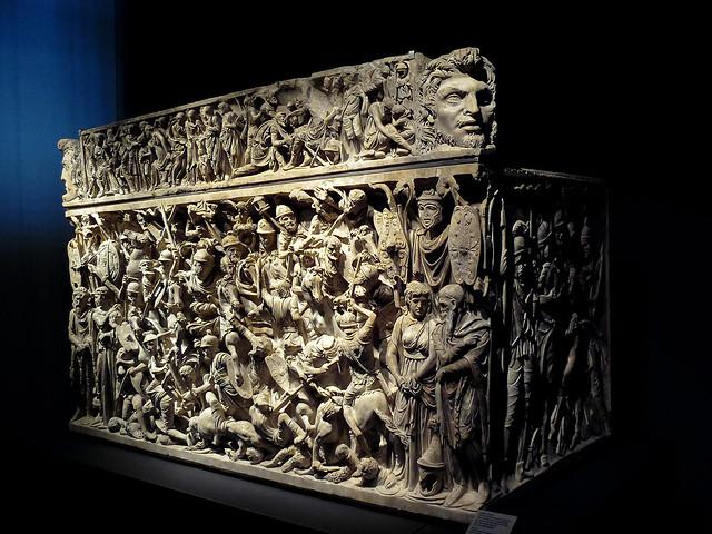 Sartego romano atopado en Portonaccio (180 - 190 d.C.) - Palazzo Massimo alle Terme - Roma