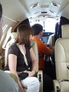 Flight attendant at work