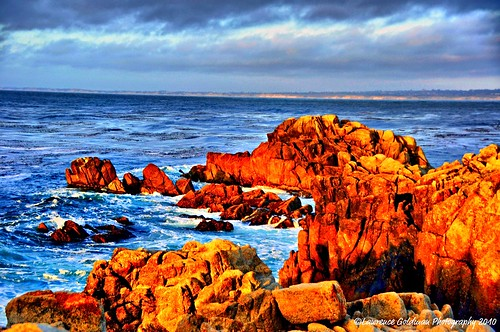 california seascape painterly landscape shoreline scenic boulders 500views montereypeninsula nikond90 lawrencegoldman lhg11