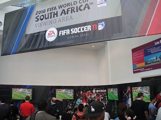 E3 2010 EA Sports FIFA Soccer World Cup viewing area | by Doug Kline