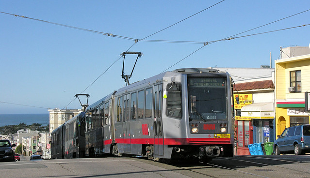 SF Muni Line L - 1488 inbound on Taraval at 28th Ave