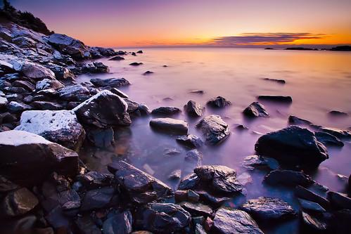 longexposure winter sunrise maine 5d ogunquit canonef1740mmf4l bw30nd