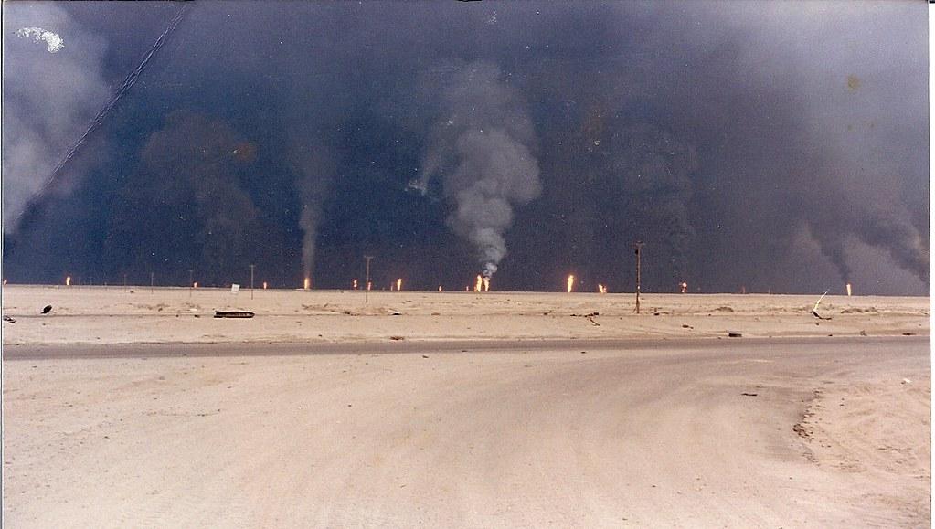 BURNING OIL WELLS