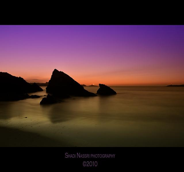 Sunset in arnao beach