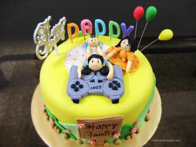 PS3 Dads Birthday Cake