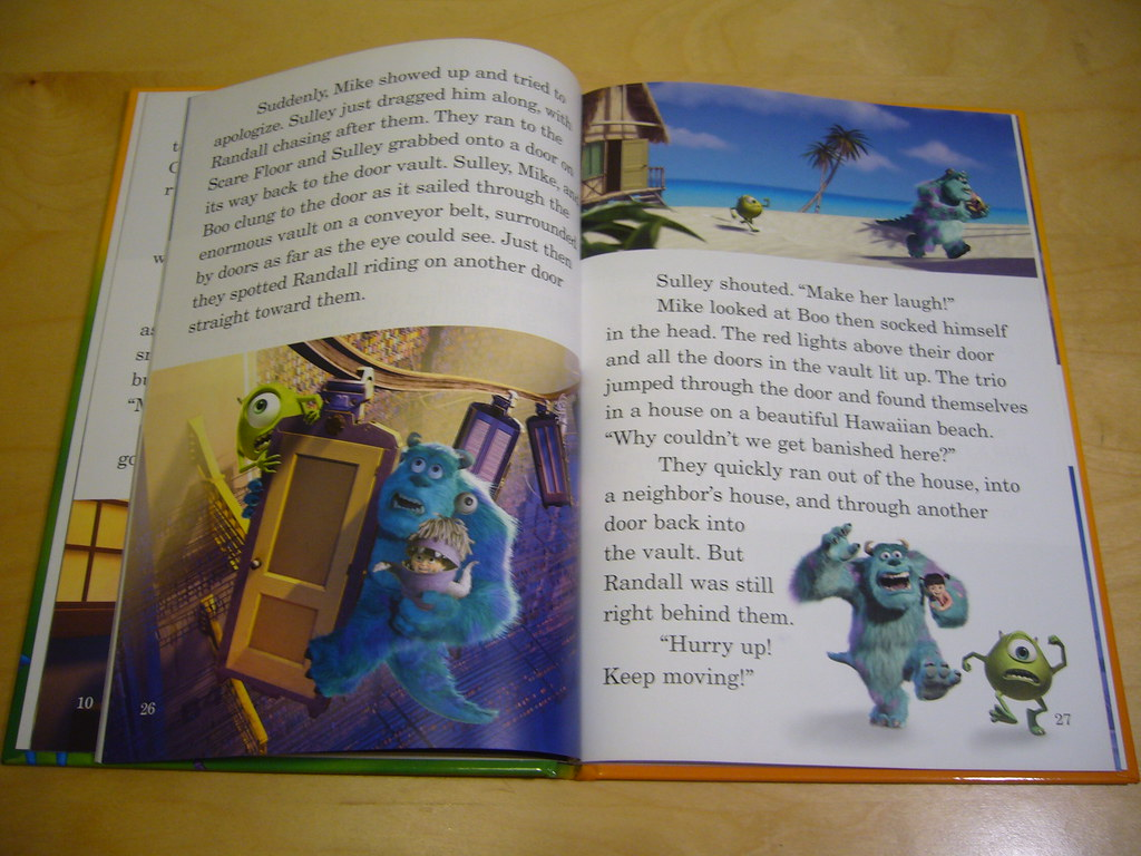 Monsters Inc  and A Bug's Life | Double Englist story book w