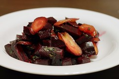 warm carrot and beet salad   by Stacy Spensley