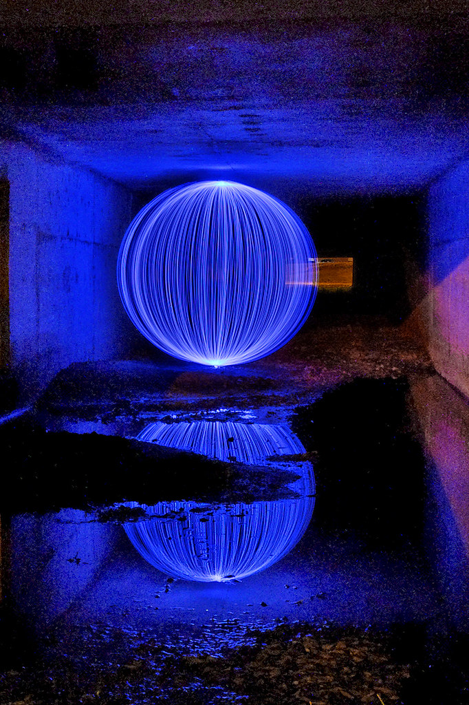 Orb of Light in a Tunnel - #2482