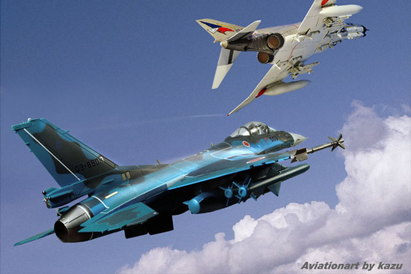 F-2A with F-4EJ