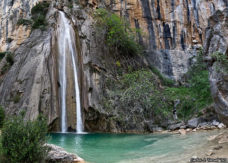 Cascada del arroyo Linarejos en el Parque Natural de las Sierras de Cazorla, Segura y las Villas