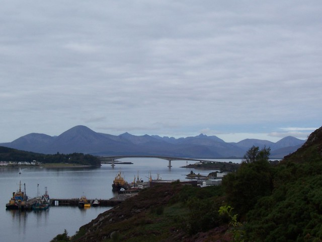 The Skye Bridge and The Cuillins of Skye