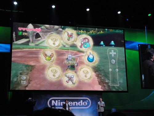 E3 2010 Nintendo Press Event - Legend of Zelda Skyward Sword item selection UI   by Doug Kline