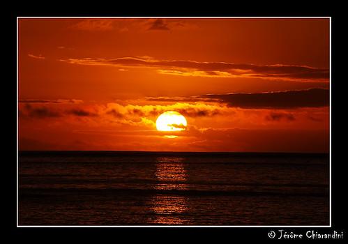 ocean sunset sea water pool radisson tahiti sunpolynesia