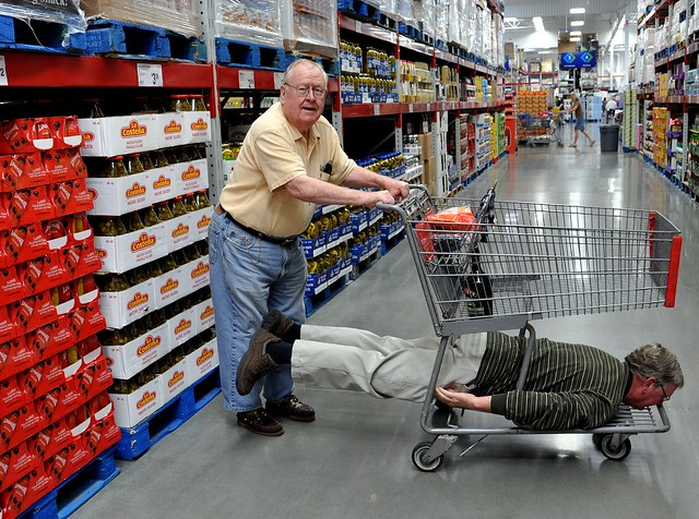 Shopping With Dad on Face Down Tuesday