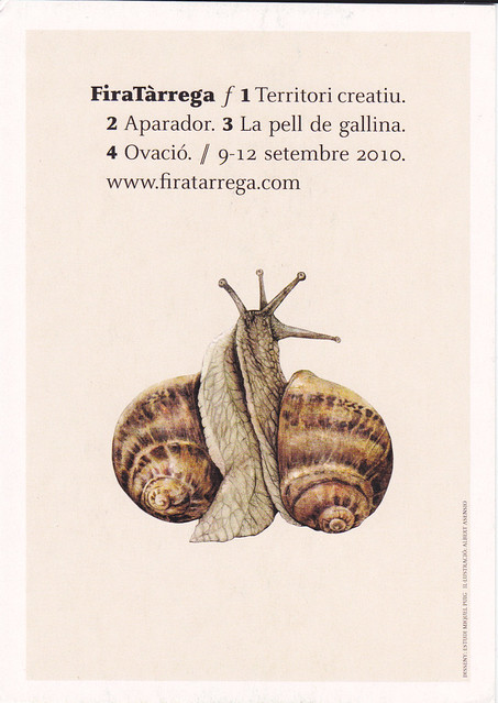 Snails Getting Jiggy With It Ad Postcard