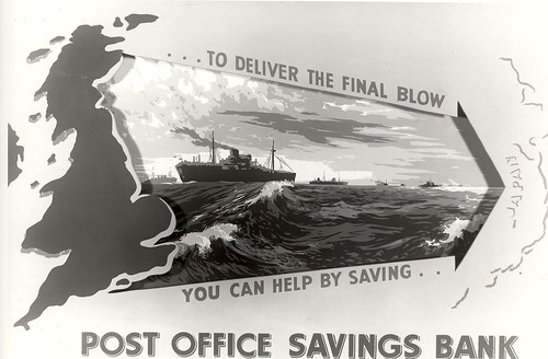 ...To deliver the final blow you can help by saving... Post Office Savings Bank
