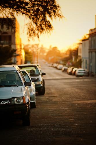 street sunset cars humboldt bokeh 2008 10thstreet arcatacalifornia aroundthecornerfromminortheater