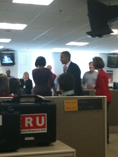 President Obama and First Lady visit Disaster Operations Center | by American Red Cross