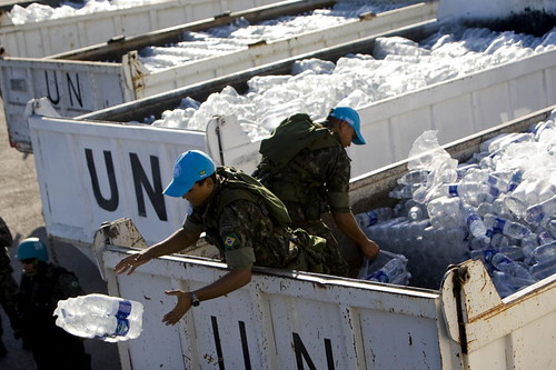 UN Peacekeepers Distribute Water and Food in Haiti | by United Nations Photo