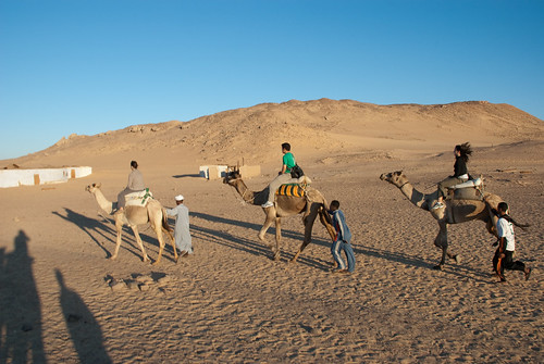 Sharon, Ed and Carolina on camels | by ianloic