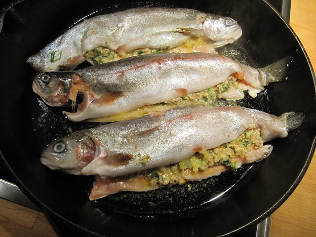 Panfried Trout Almondine