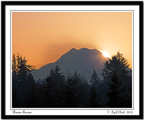 mountain sunrise landscape washington mt mount rainier wa