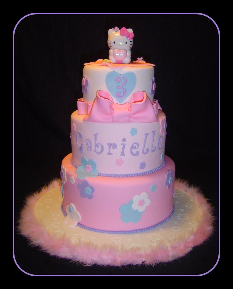 Tremendous Hello Kitty Birthday Cake A Photo On Flickriver Personalised Birthday Cards Cominlily Jamesorg