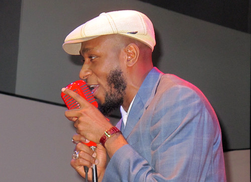 Mos Def on the mic... with the Preservation Hall Jazz Band at Gulf Aid!