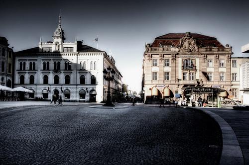 Stora Torget Square. Uppsala. Plaza de Stora Torget.