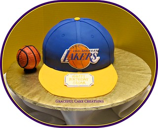 LA Lakers Basketball Birthday Cake | by Graceful Cake Creations