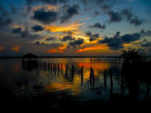 sunset sky cloud sun heron nature water weather silhouette clouds river evening pier twilight dock scenery colorful skies view florida dusk indian atmosphere explore cumulus tropical late indianriver explored opencamp aluminarte