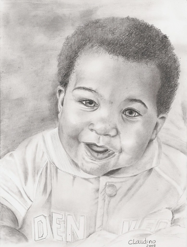 Desenho Bebe Negro Claudino Vieira Flickr