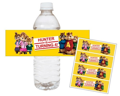Alvin And The Chipmunks Printable Water Bottle Wraps