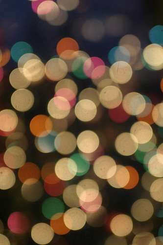 christmas white tree colors lights bokeh